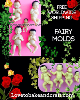Fairy mold, Fairy mould, Polymer fairy, Prosculpt Fairy, OOAK Fairy, free worldwide shipping